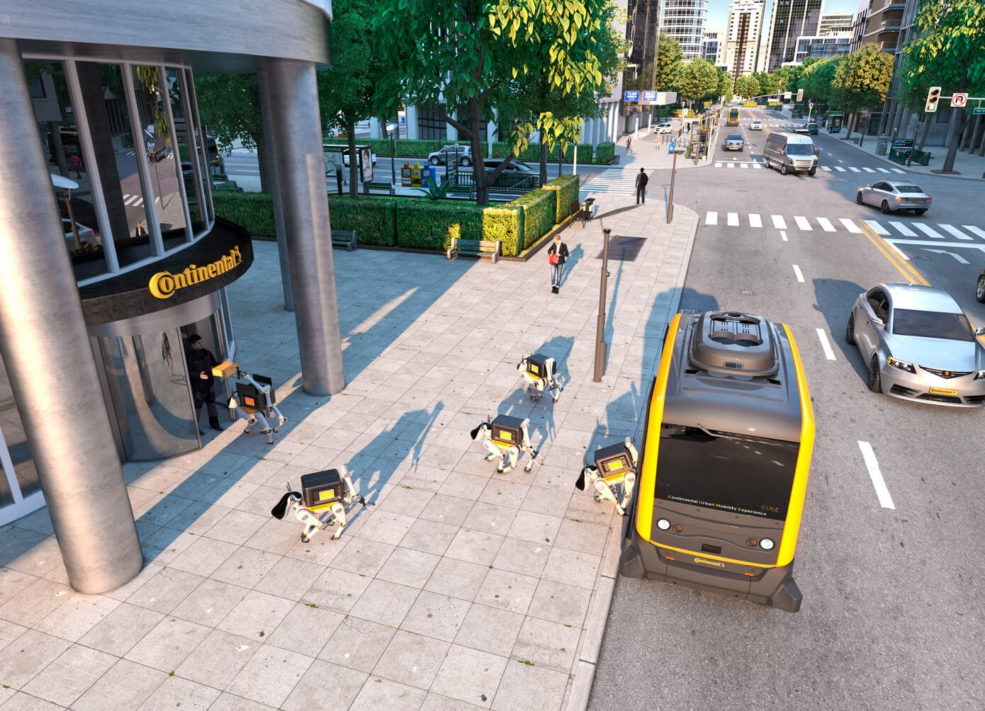 Continental предлагает доставлять товары с помощью беспилотников и роботов-собак