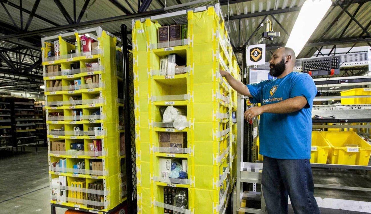 Робот на складе Amazon