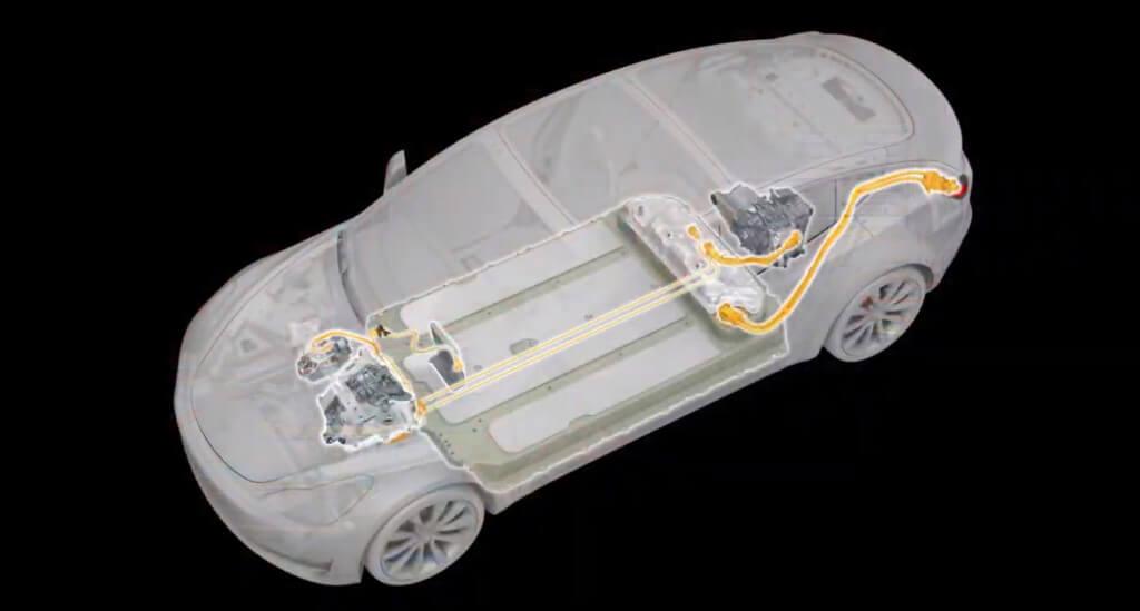 Высоковольтные провода Tesla Model 3