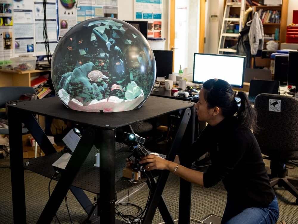 Шарообразный дисплей виртуальной реальности