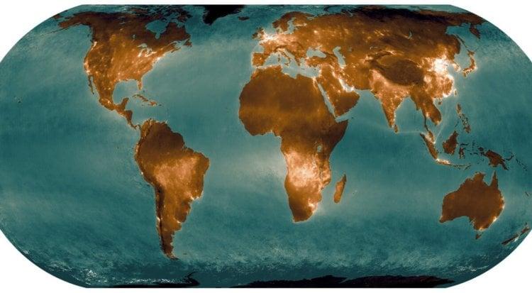 Представлена свежая карта выбросов диоксида азота в атмосферу