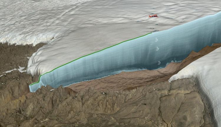 Огромный кратер в Гренландии