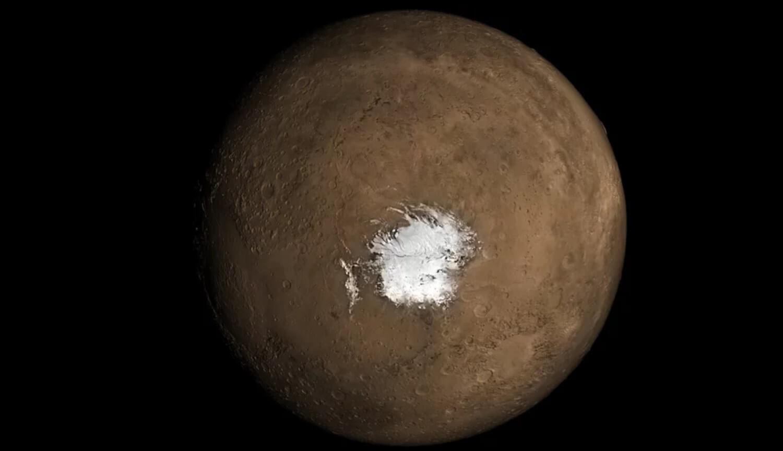 Жидкое озеро на Марсе