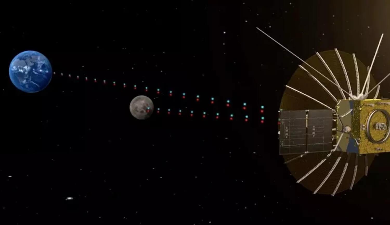 Фото Луны на фоне Земли