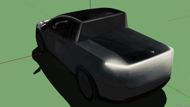 Новое изображение пикапа Tesla озадачило дизайнеров
