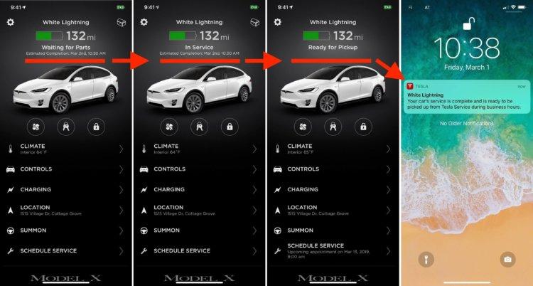 Мобильное приложение Tesla