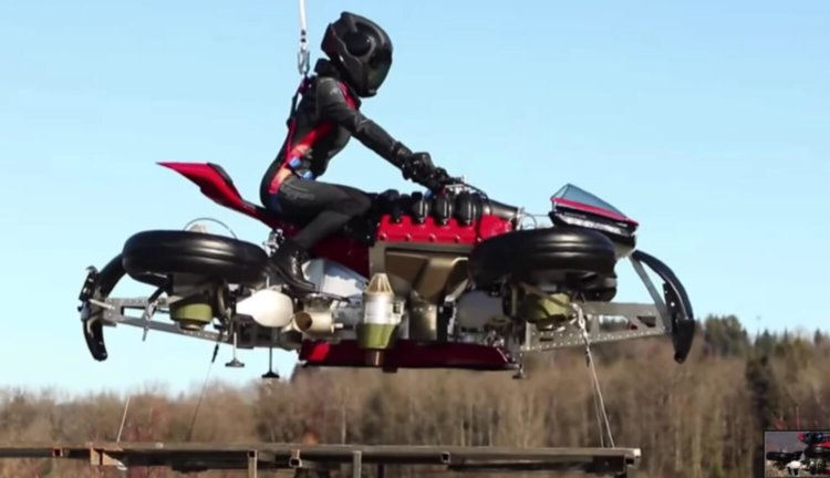 Летающий мотоцикл Lazareth