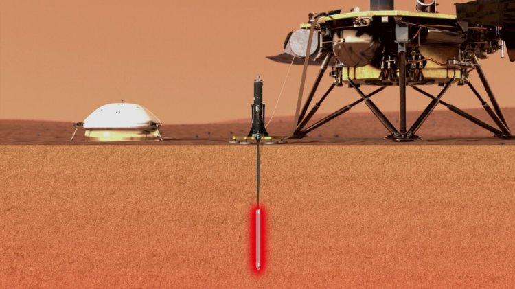 Посадочный марсианский модуль InSight приступил к бурению Марса. Есть первый прогресс