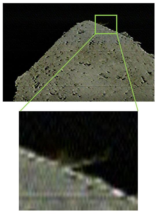 Зонд «Хаябуса-2» провел бомбардировку астероида Рюгу, создав на его поверхности кратер