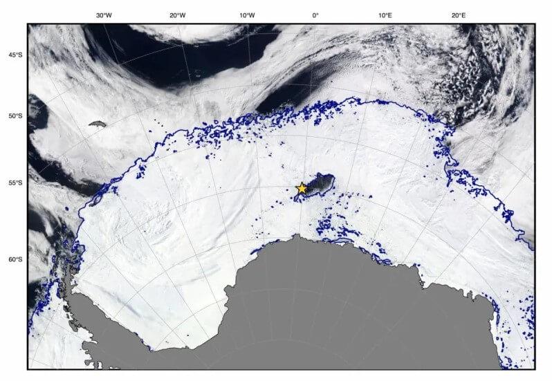 Полынья в Антарктиде