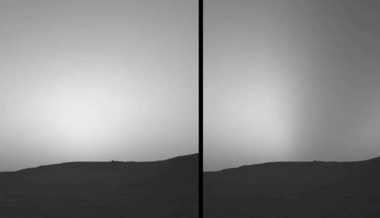 Солнечное затмение на Марсе