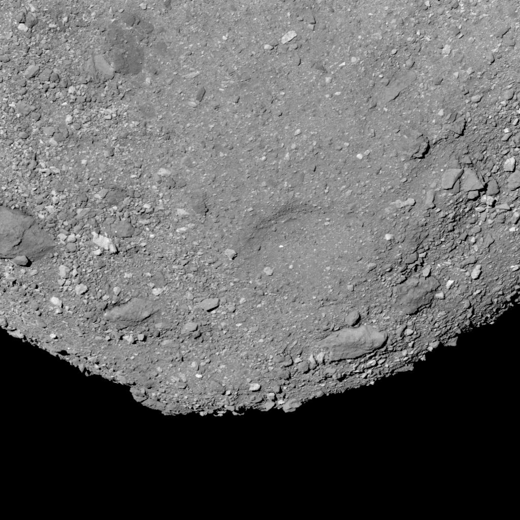 Кратер на астероиде Бенну