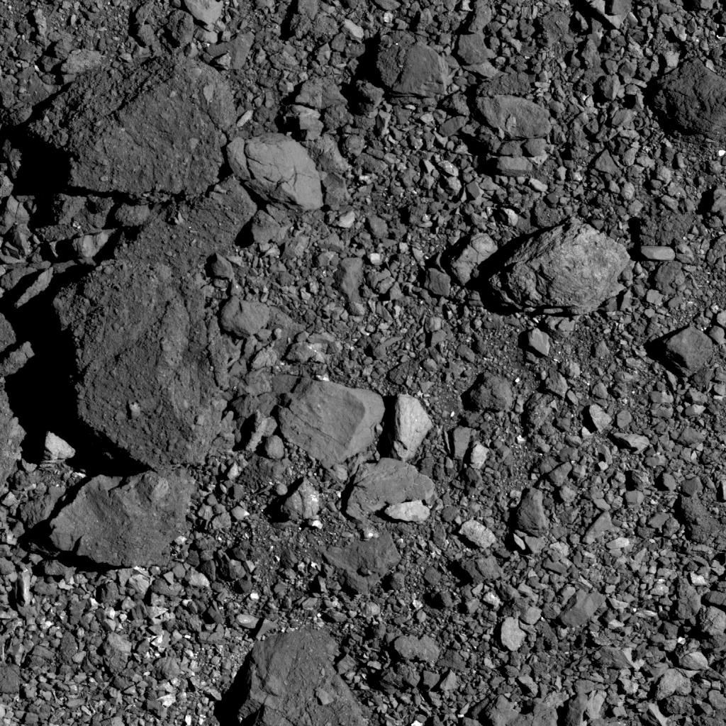 Поверхность астероида Бенну