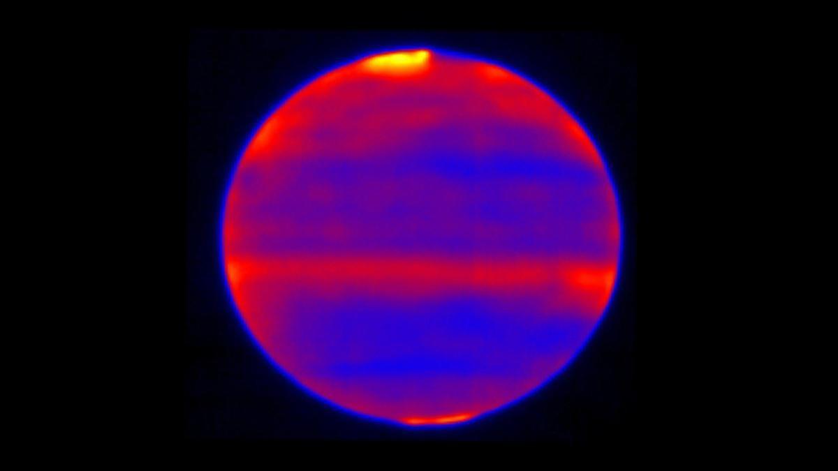 Тепловая карта Юпитера