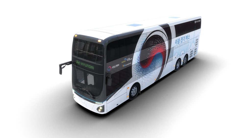 Hyundai представила большой двухэтажный электробус на 70 пассажиров