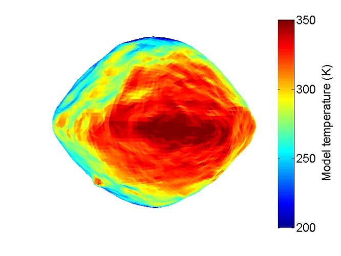 NASA опубликовало тепловую карту астероида Бенну