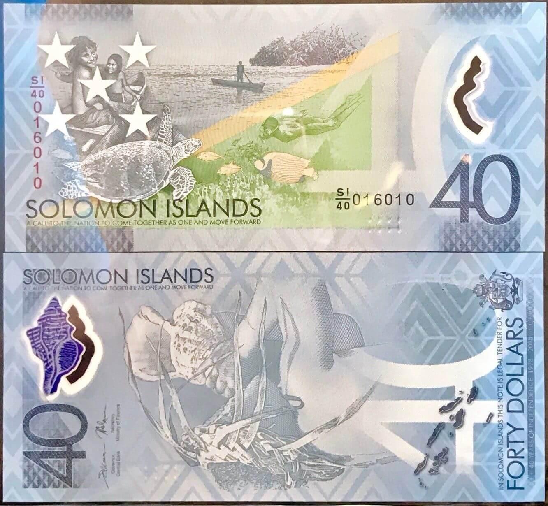 40 долларов из Соломоновых островов