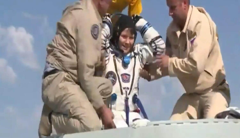 #видео | Экипаж корабля «Союз МС-11» успешно приземлился в Казахстане