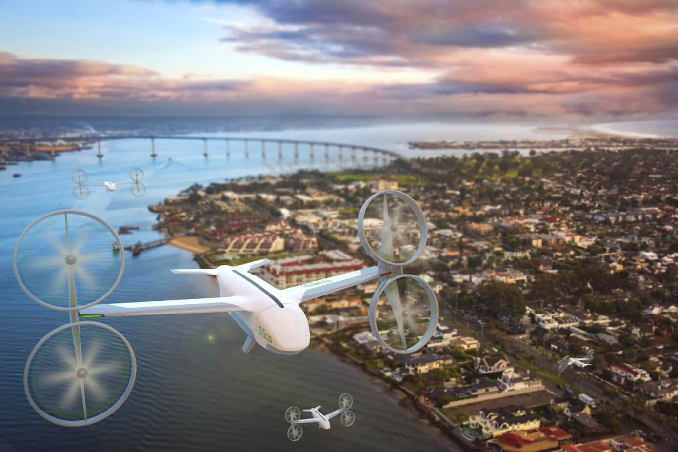 Uber займется доставкой еды с помощью летающих дронов