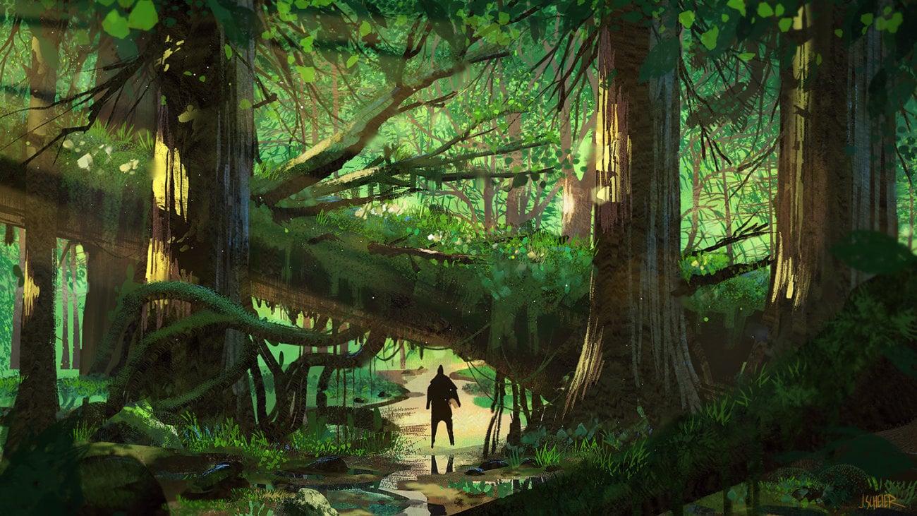 Под водой обнаружен древний лес, которому 10000 лет