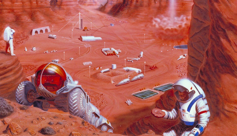 Могут ли микробы заняться добычей полезных ископаемых на Марсе?