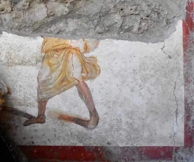 В Помпеях нашли древнюю картину с кровавыми гладиаторами