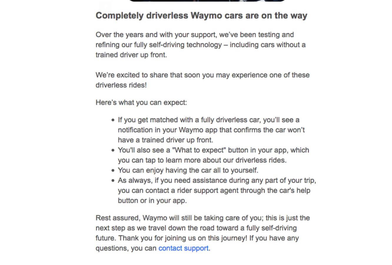 Waymo запускает на дороги автономные такси. Вообще без водителей