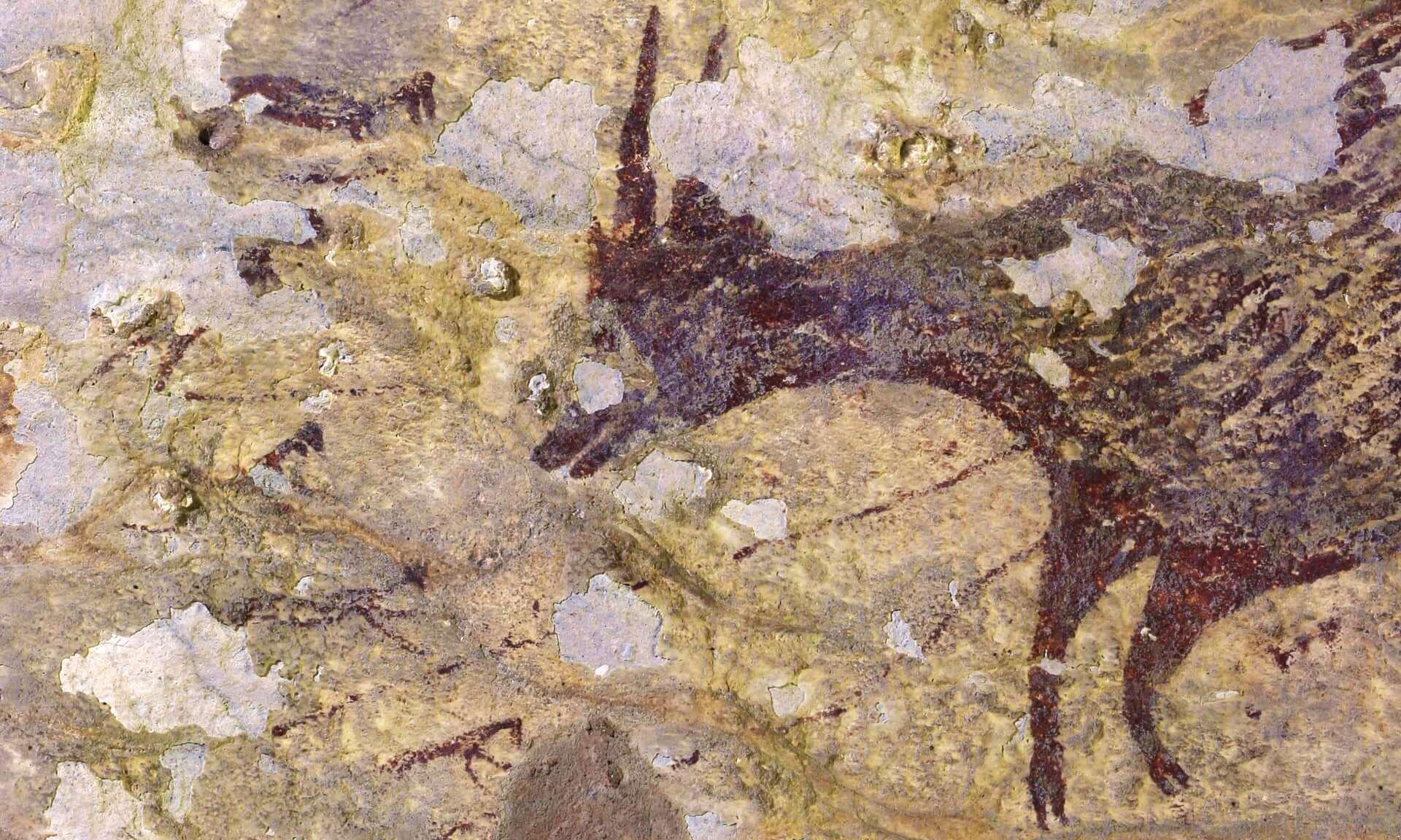 Найден самый древний наскальный рисунок с изображением охоты