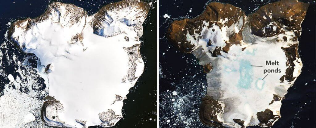 Сколько снега растаяло из-за рекордно высокой температуры в Антарктиде?