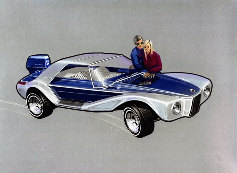 Самый красивый автомобиль-амфибия в истории. Угадаете, в каком году его придумали?