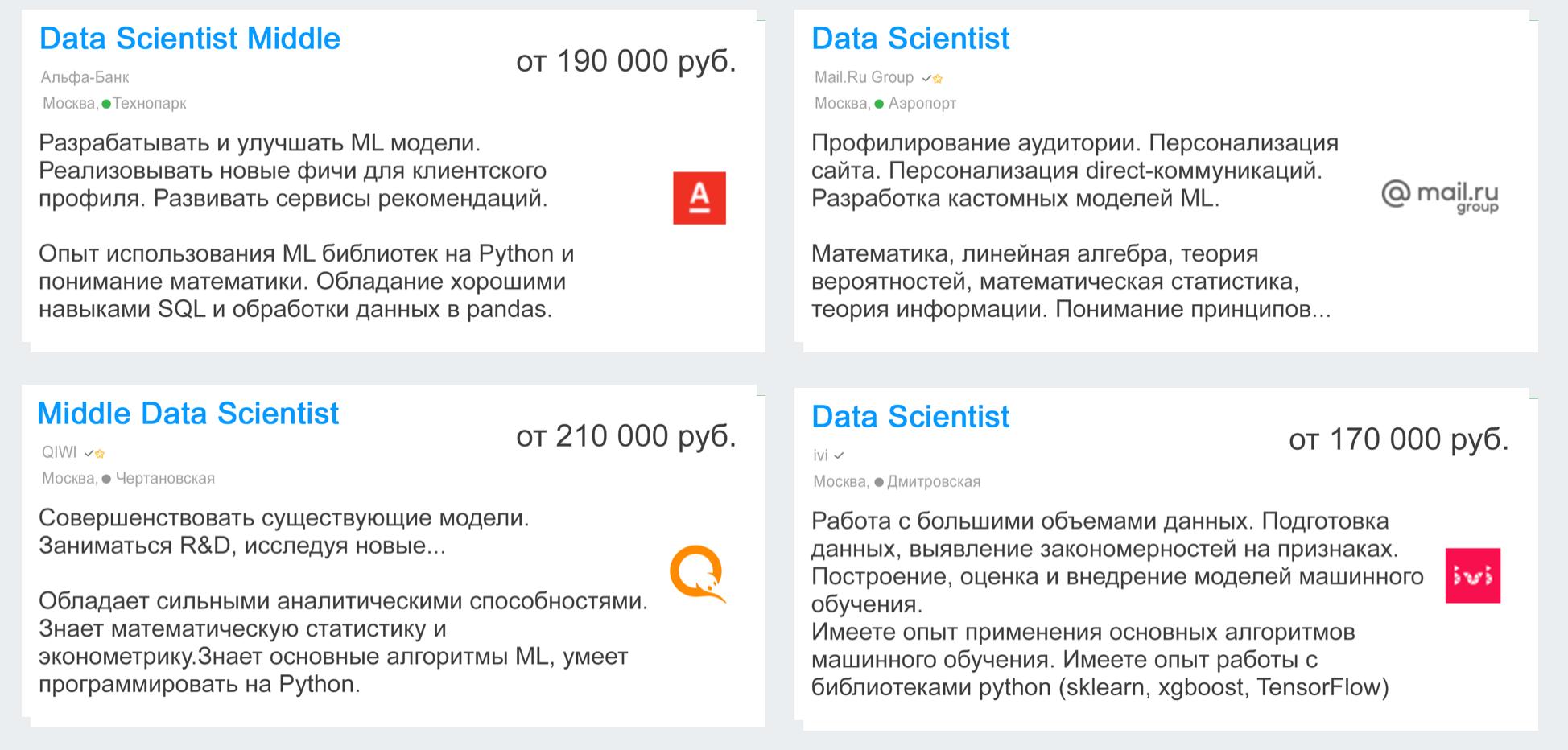 Что должен уметь специалист по Data Science?