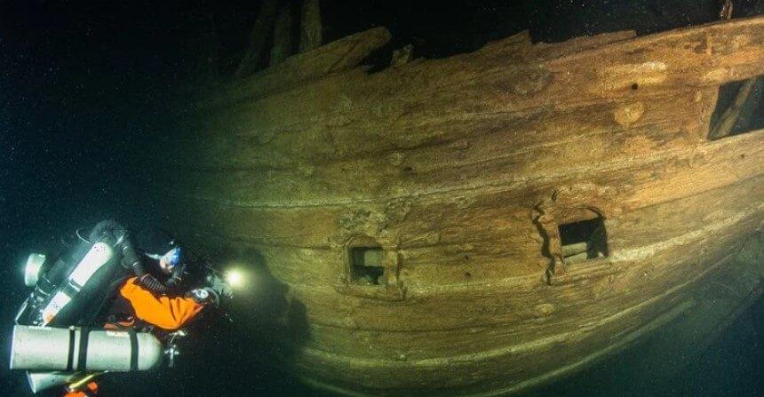 Насколько хорошо может сохраниться корабль, затонувший 400 лет назад?