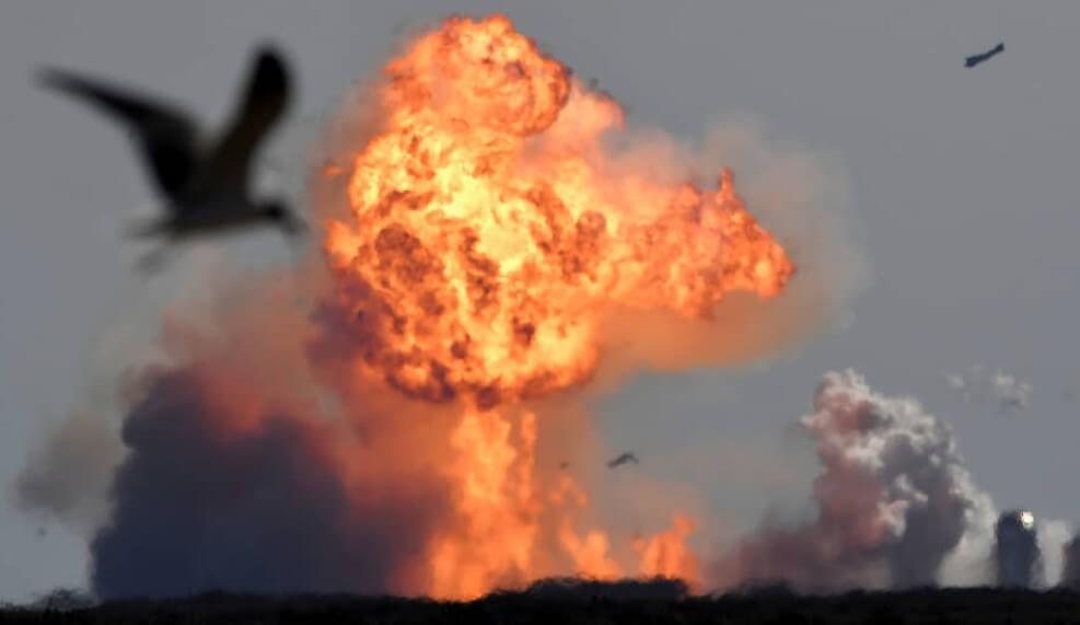 Видео: прототип корабля SpaceX Starship снова взорвался при посадке