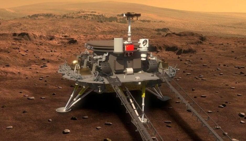 Китайский марсоход Чжужун успешно сел на поверхность Марса