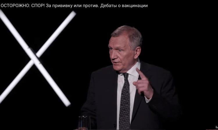 Скриншот передачи «Осторожно:Собчак» с участием Александра Панчина Александр Редько (на фото).