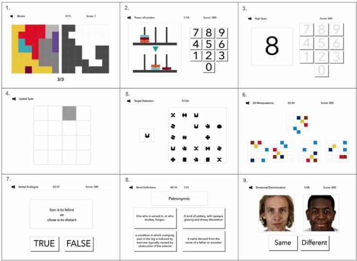 Когнитивные тесты включены в большой британский тест на интеллект.