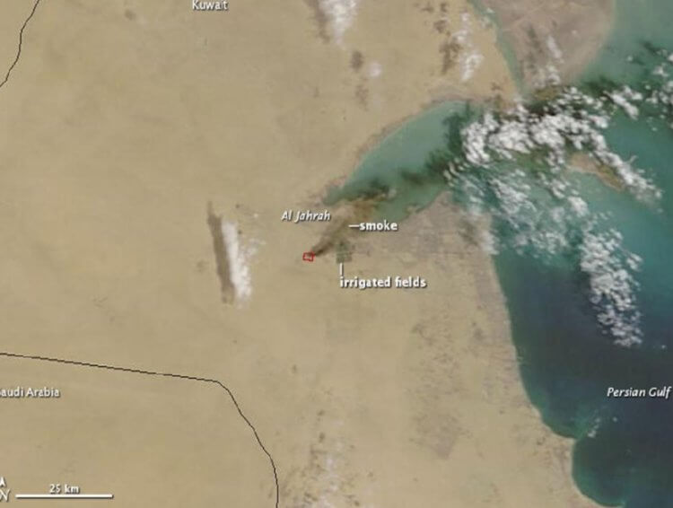 На Ближнем Востоке горит самая большая свалка автомобильных шин в мире